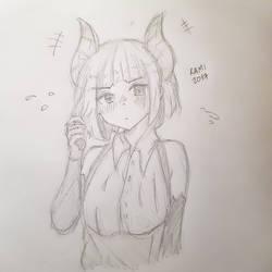 Horn Manga Girl