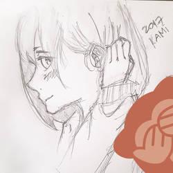 Manga Girl Face Side View