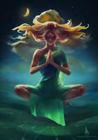 Meditation - digital speedpaint by VeraZowa