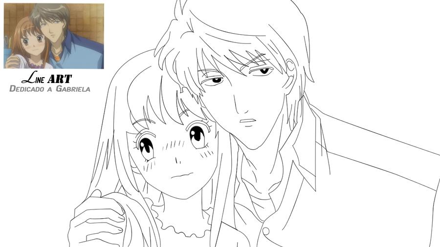 Line Drawing Kiss : Lineart itazura na kiss by asunaw on deviantart