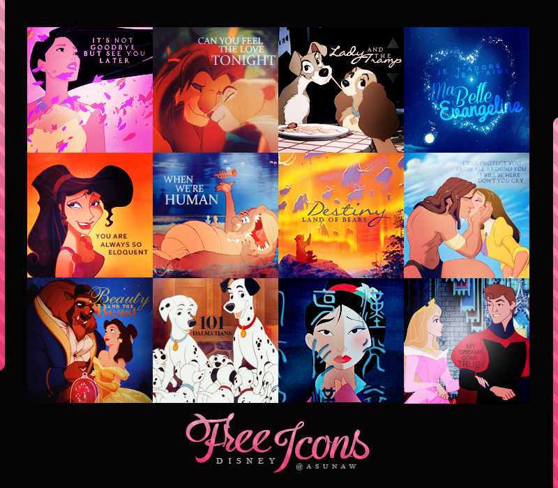 Free Icons Disney +45.500 page by Asunaw