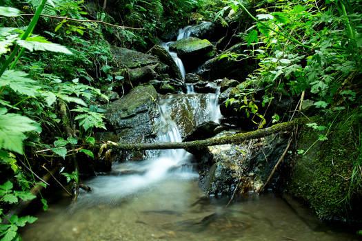 Small river waterfall