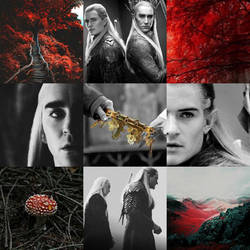 Thranduil and Legolas Red Moodboard by Maune1998