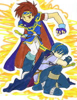Roy and Marth by Kaizer42