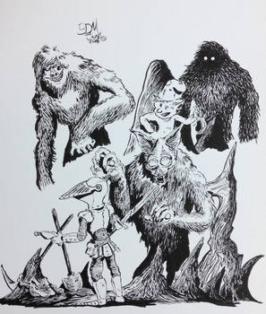 Ink Monsters and Beasts in fantasy settings