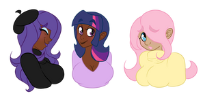 Rarity, Twilight Sparkle, and Fluttershy