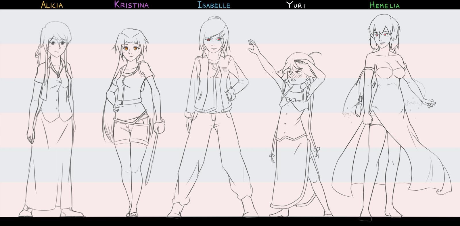 Female Lineup by ElleranS
