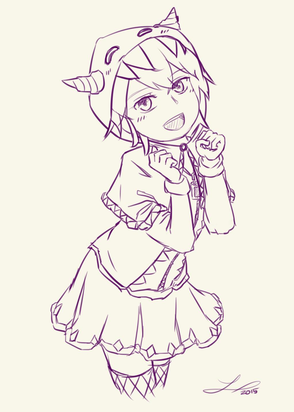 Kai sketch by ElleranS