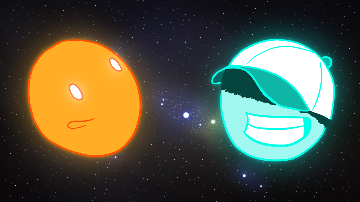 Danny and Brandon in Space by AlienFrank