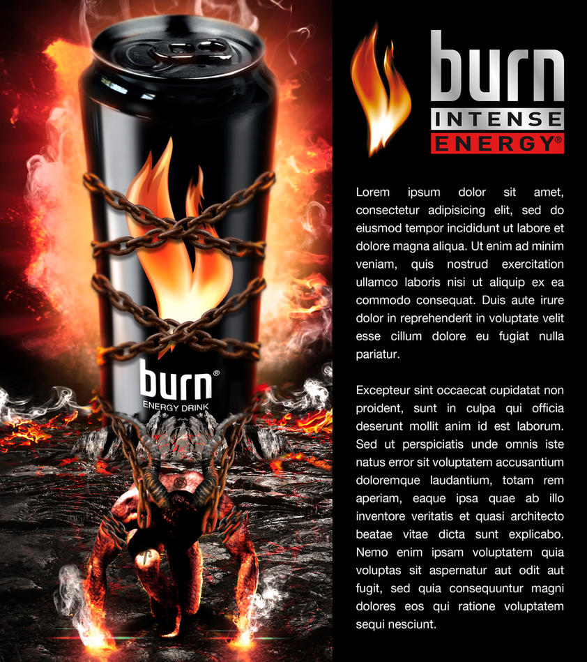 Fun-art Burn Energy Drink - photo manipulation by AdrianSkobiej