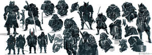 Cyborg samurai design development