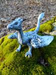 Silver Dragon Sculpture