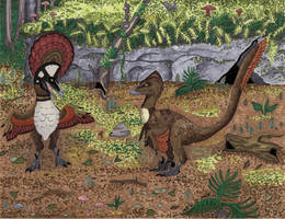 Courting Deinonychosaurs by MsMergus