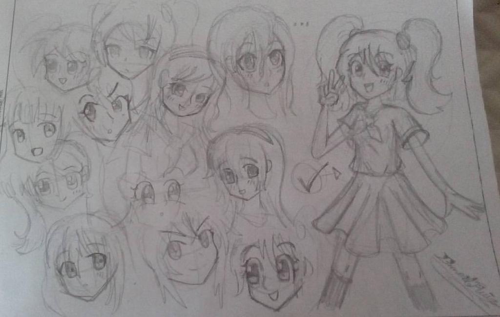Cliche anime girl design by Ismatrooper81