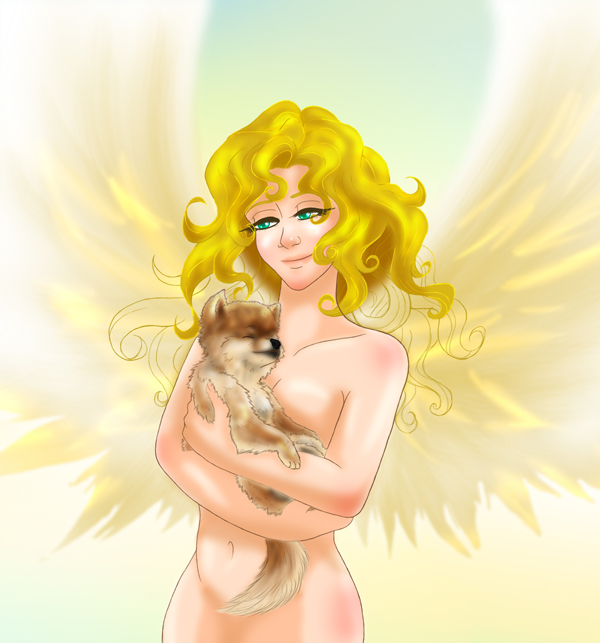 Ryo with his Golden Angel by mcaputo123187