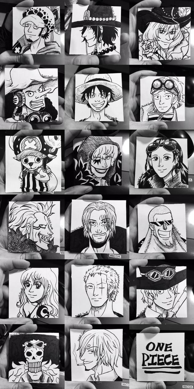 One Piece Head-shots by mcaputo123187