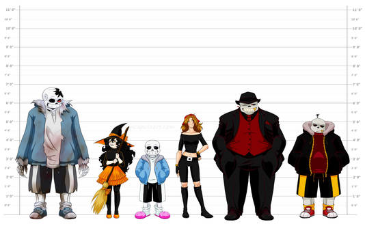 Height Chart with Sans