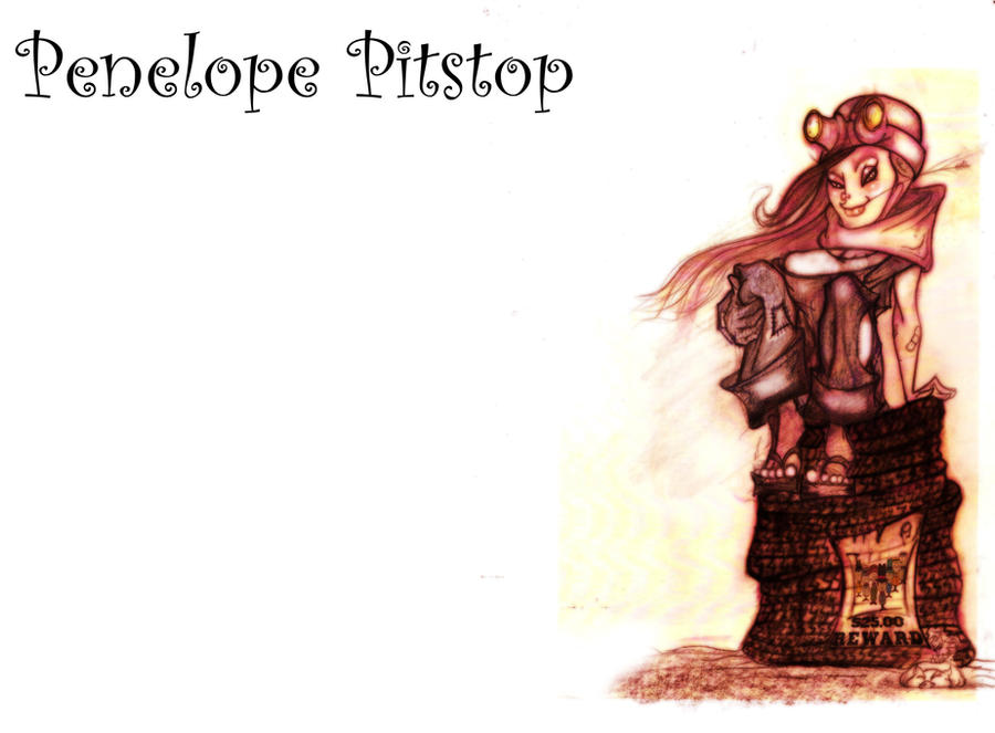 Penelope Pitstop by aoleitao