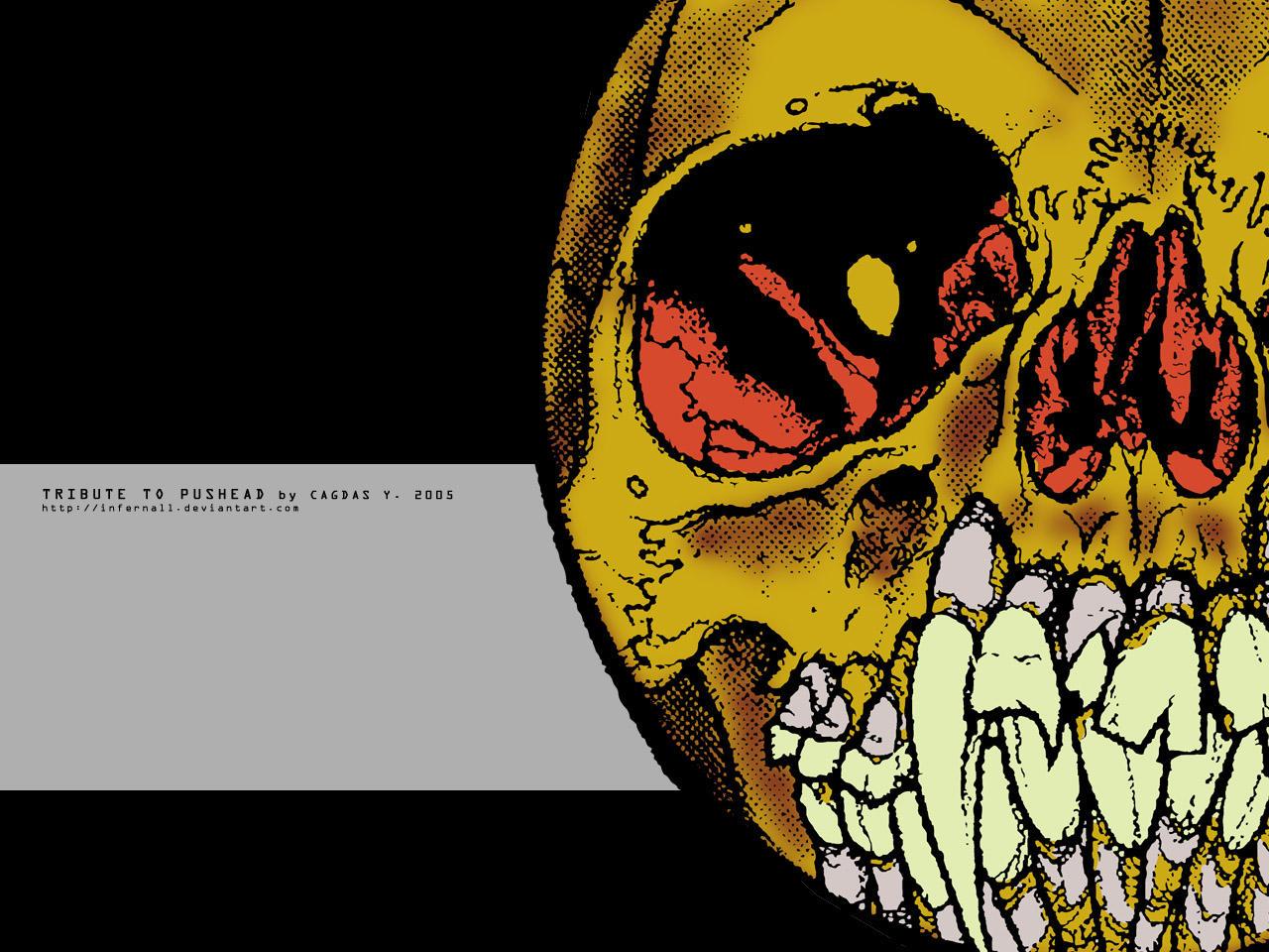 Flaming Skull - Wallpaper No.4 by cagdasyoldas