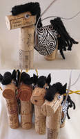 Horse Ornaments by ErrantDreams