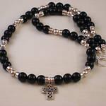 Dark Cross Necklace