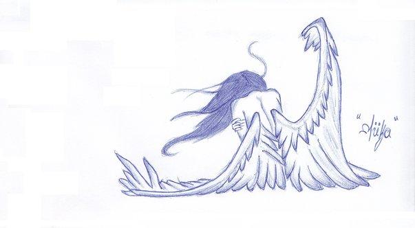 Sad Angel By MokaMermaid
