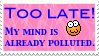 Polluted Mind Stamp by Faythemos