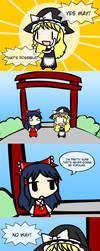 Marisa's new catchphrase by Tsukune429