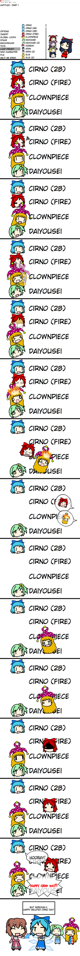 Happy Belated Cirno Day! by Tsukune429