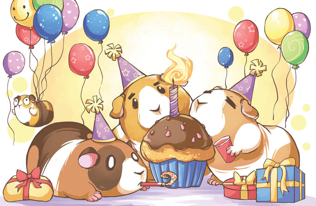 Hungry Guinea pigs are Happy Guinea pigs by KrazyD