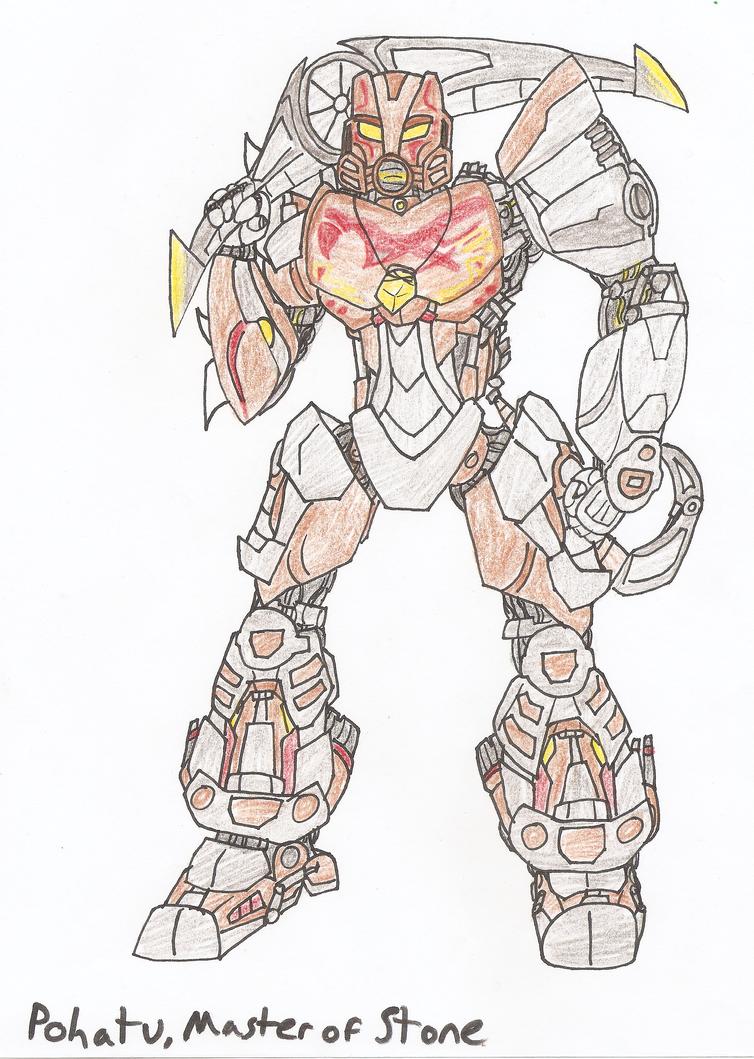 bionicle pohatu master of stone by erenerakharddraws on deviantart