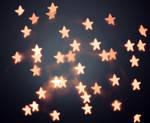 Orange Star Bokeh