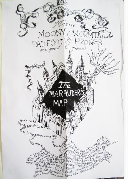 Drawn Scroll marauders map - Free Clipart on ... |Marauders Map Drawing