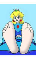 princess peach feet (blue version)