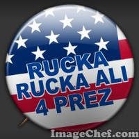 Rucka For President Badge