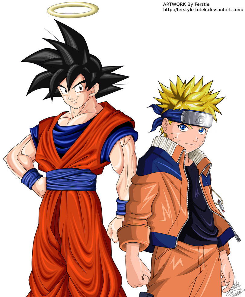 goku and naruto by ferstyle fotek