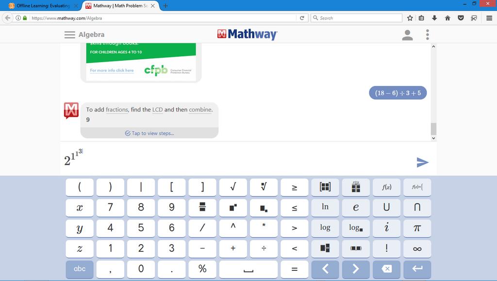 Gemütlich Www.mathway.com Zeitgenössisch - Mathematik & Geometrie ...