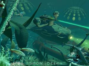 In depths of Boron ocean's