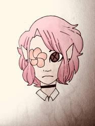 Pink flower elf by PiranhaPoison