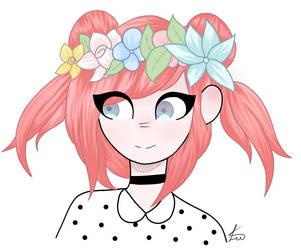 flower crown by PiranhaPoison