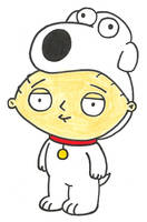 Stewie dressed as Brian by saxguygb