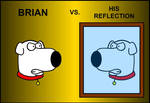 Brian vs. His Reflection by saxguygb