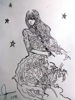 I'm writing under the stars