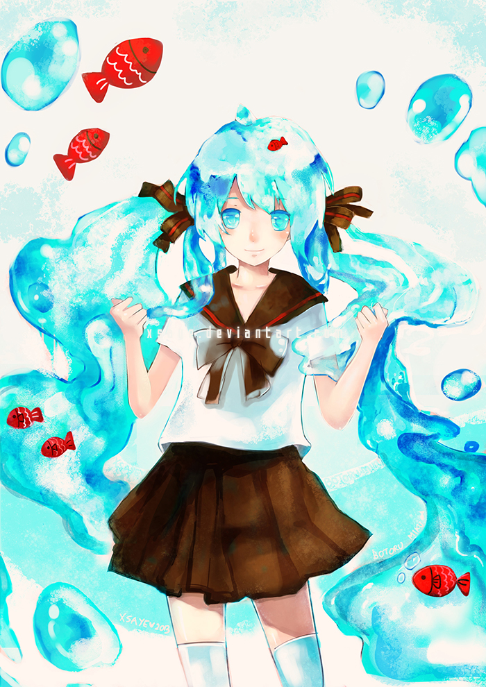 bottle miku by Xsaye