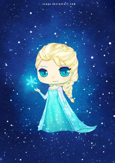 Elsa the snow queen by Xsaye