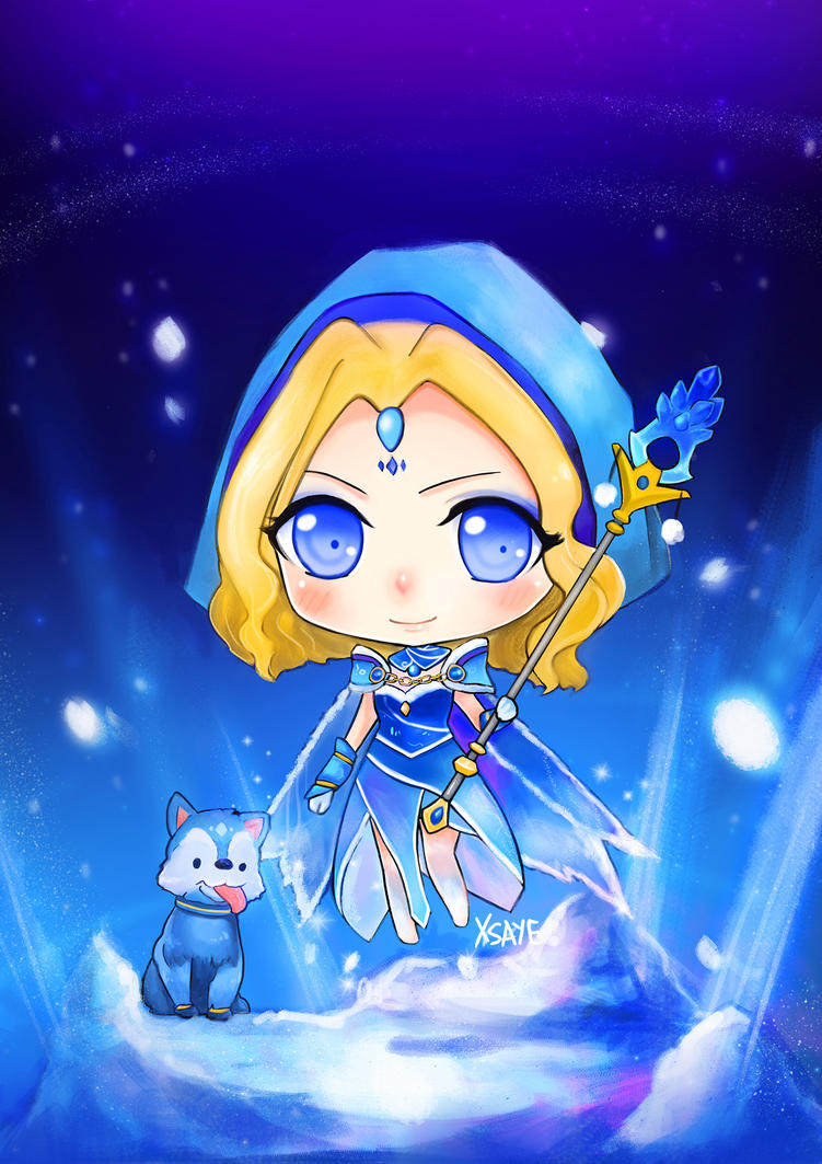 Crystal Maiden Arcana by Xsaye on DeviantArt