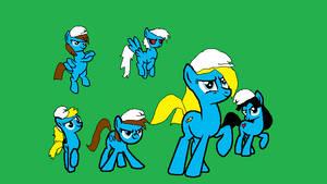 smurfed little ponys by kuki12345