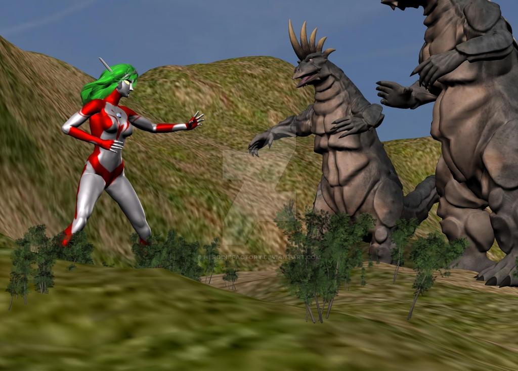 UltraLady VS Kaiju Monsters by HeroineFactory on DeviantArt