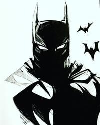 Batman fanart in ink by BRosa84