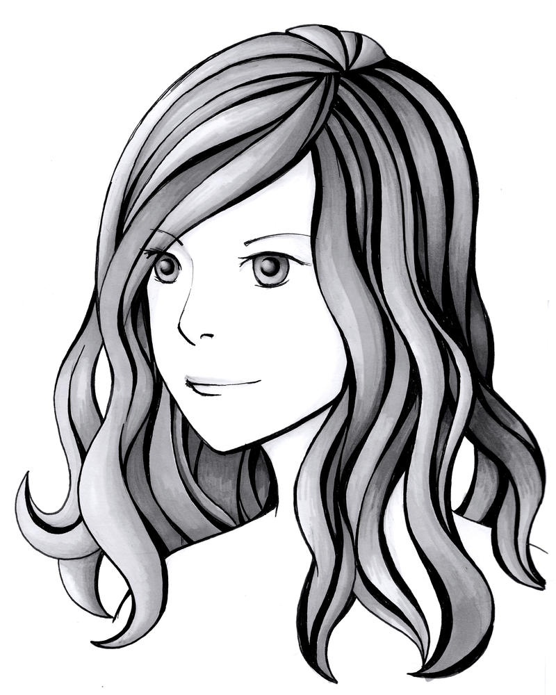 Line Drawing With Shading : Line width and simple shading by wingedlioness on deviantart